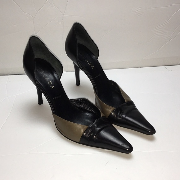 websites online Escada Pointed-Toe Suede Pumps browse online in China AEjPidvJq